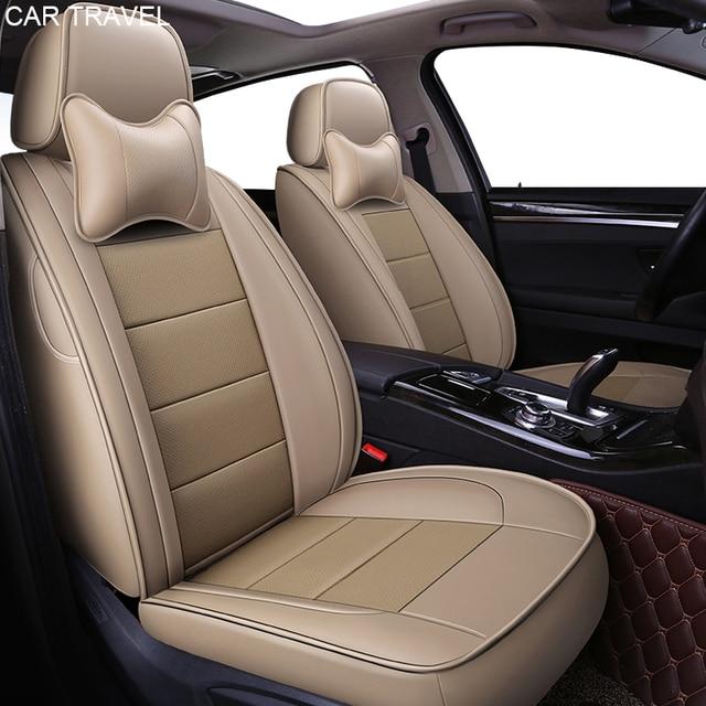 Custom Genuine Leather Car Seat Covers For Chevrolet Captiva Spark Camaro Malibu XL Cruze Auto Accessories