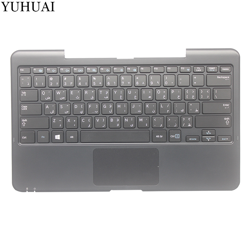 NEW Arabic Laptop Keyboard For SAMSUNG XE500T1C AR Laptop Keyboard with Palmrest cover