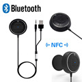 Bluetooth Car Kit NFC AUX Music Receiver Handsfree for iPhone Samsung Smartphone MP3 With Dual USB Car Charger Magnetic sticker