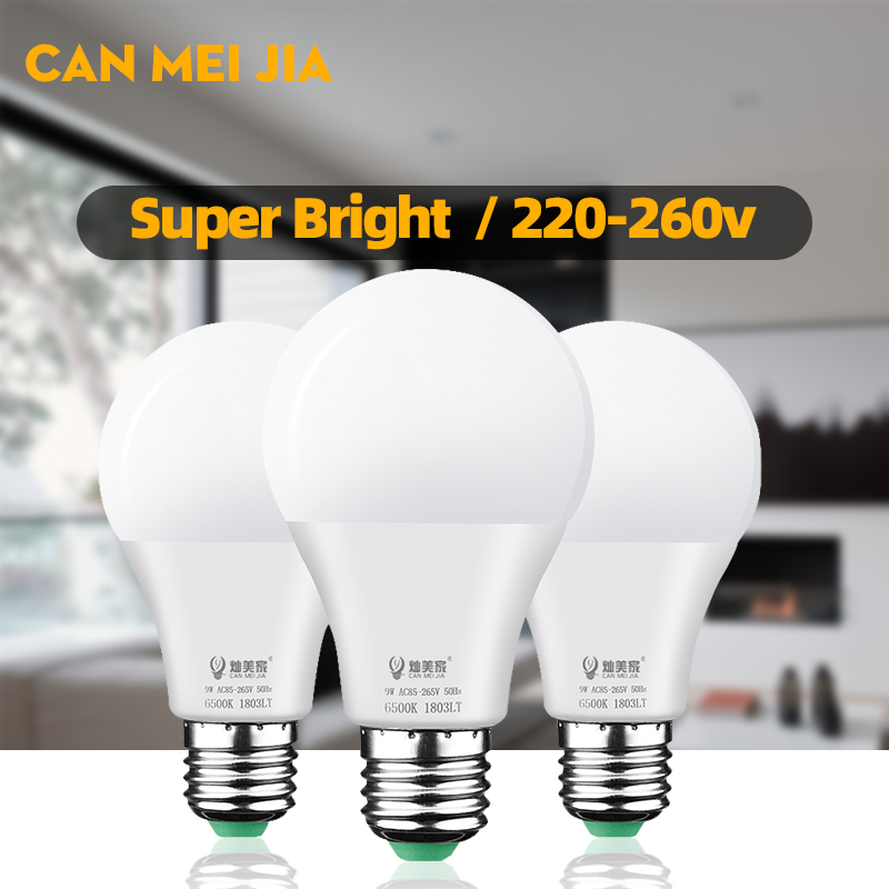Led Bulb E27 220V 110V Led Lamp Light Bulbs 3W 5W 7W 9W 12W 15W 18W Spotlights for Home Ampoule Bombillas Led Cold Warm White image