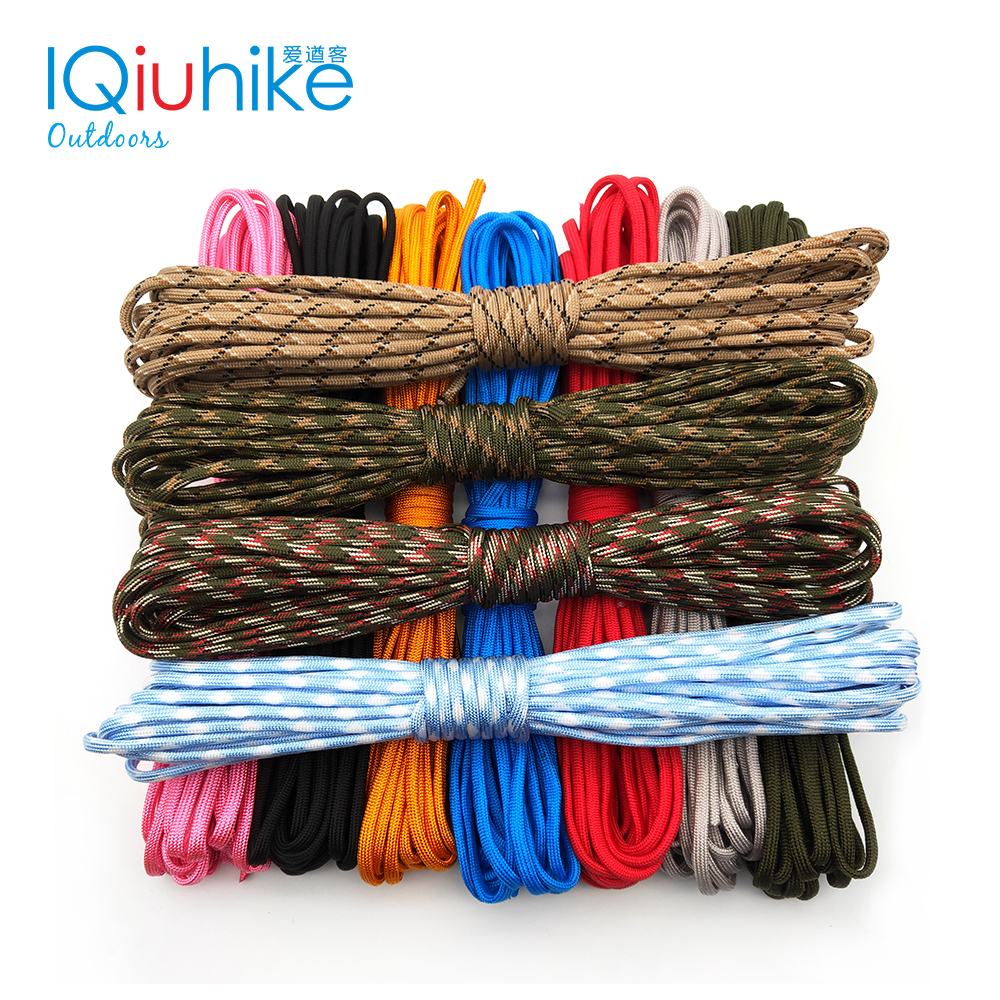 IQiuhike Multifunction Parachute 550 Popular Type III 7 Strand Cord Lanyard Mil Spec Core Camping Survival Tools