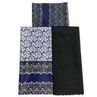 samakaka new fashion african wax print silk satin mathicng chiffon and lace fabric cord swiss material