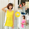 Hot sale 7 Colors Cotton Sleeveless Maternity Vests Nursing Top Maternity Clothes plus size  Slim casual Breastfeeding Clothing