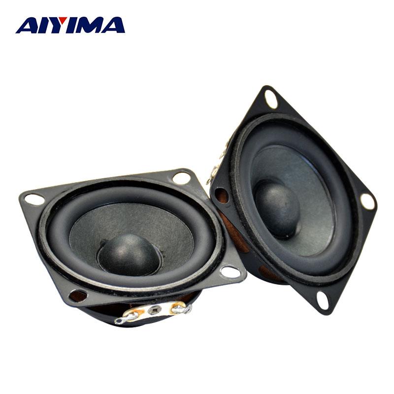 Aiyima 2Pcs Audio Tweeter Speakers Full Range Magnetic PU Side Audio Speaker Accessories 2Inch 4 Ohm