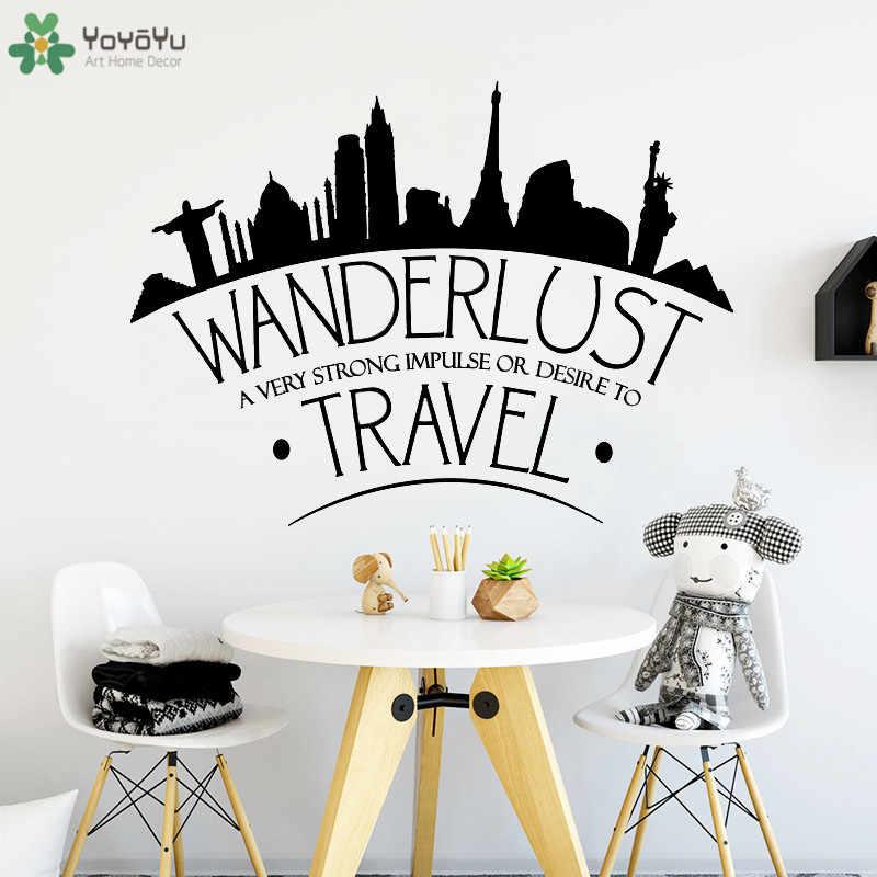 Lettering Wall Sticker Travel World