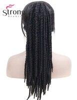 Strongbeauty твист крючком косу волосы хвостик афро кудрявый черный с рыжий синтетический плетение волос коготь клип хвост конский хвост