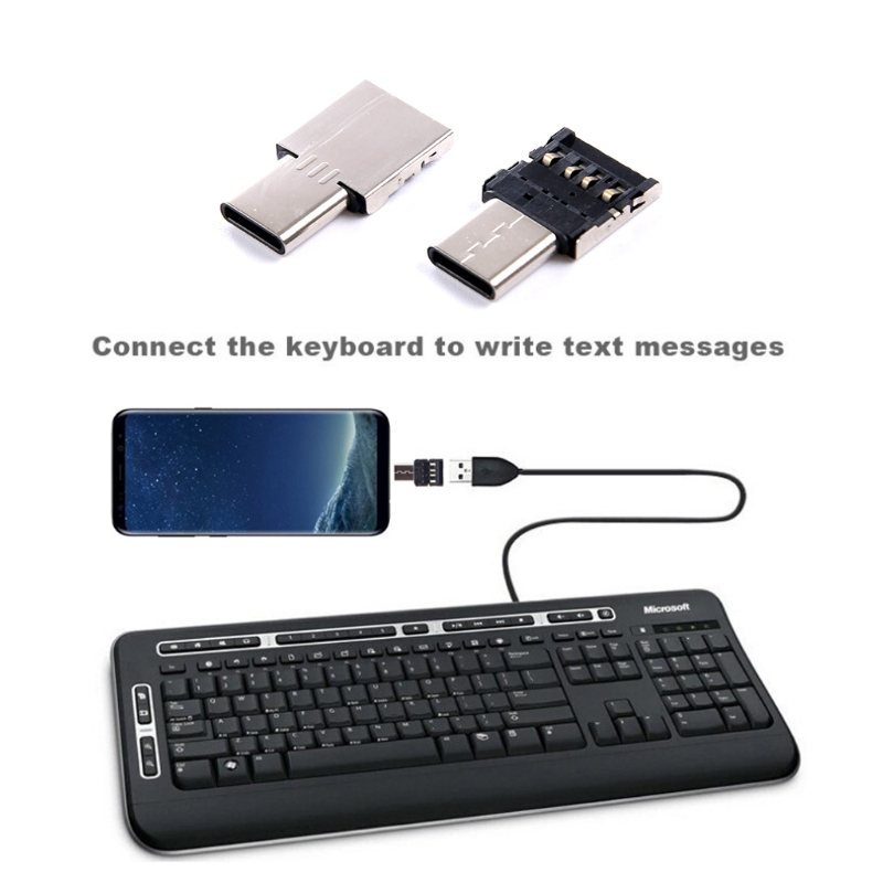 Type C To USB OTG Connector Adapter For USB Flash Drive S8 Note8 Android Phone