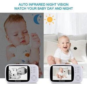 Image 3 - HYASIA 3.5 Draadloze Video Babyfoon Baby Telefoon Camera Bebe Nanny Beveiliging Temperatuur Monitoring LCD Nachtzicht Kindje Camera