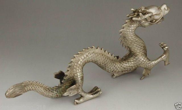 Izraditi kineski stari kolekcionarni tibetanski srebrni bakreni - Kućni dekor - Foto 5