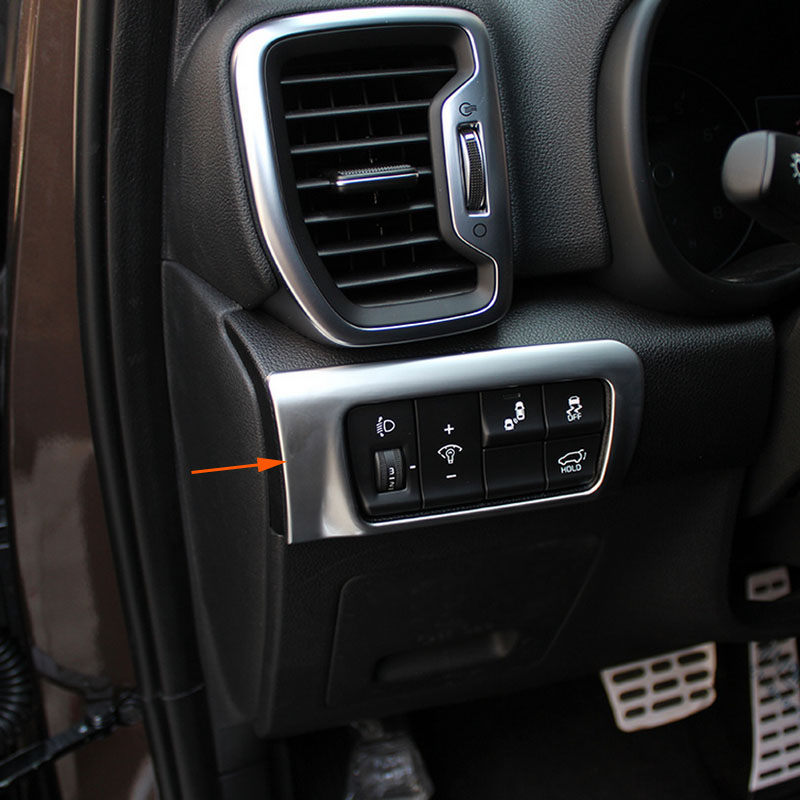 ABS Interior Head Light Switch Button Cover Trim 1pcs For Kia Sportage 2016 2017