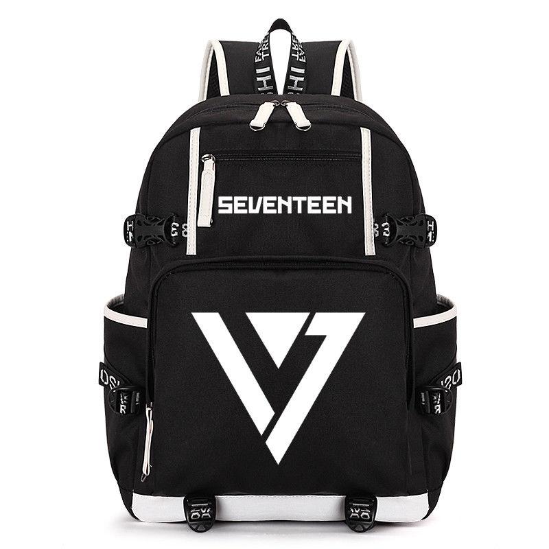 KPOP Seventeen 17 Backpack Bookbag Travelling Shoulder Bag School Bookbag VERNON WONWOO DK Collection