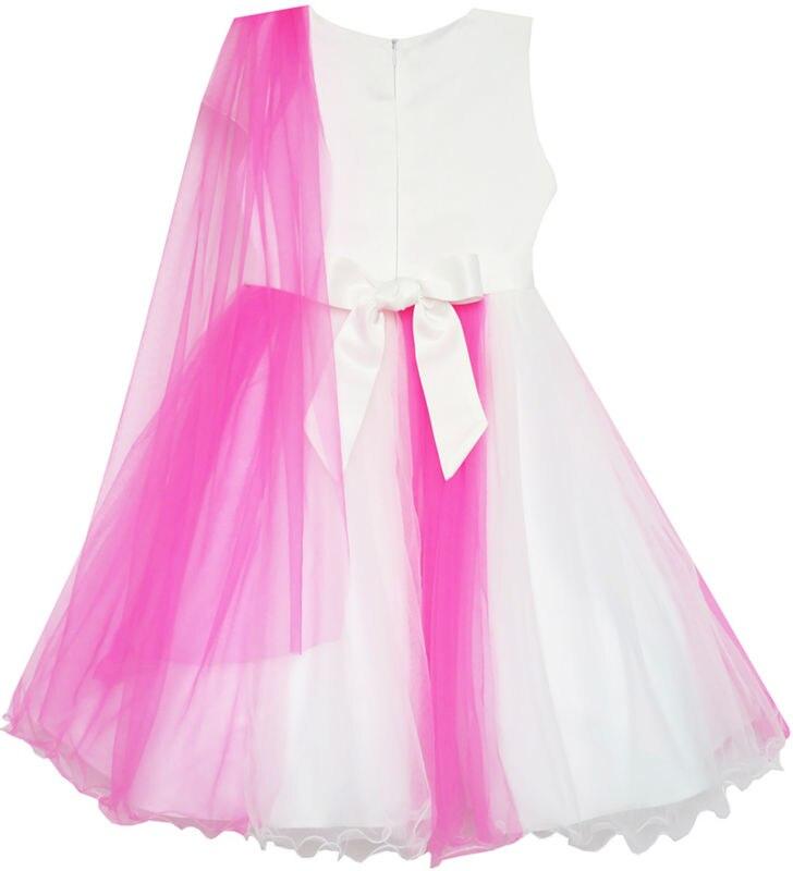 Mädchen Kleid Elegant Brautkleid Brautjungfer Tüll Blume 2019 - Kinderkleidung - Foto 2