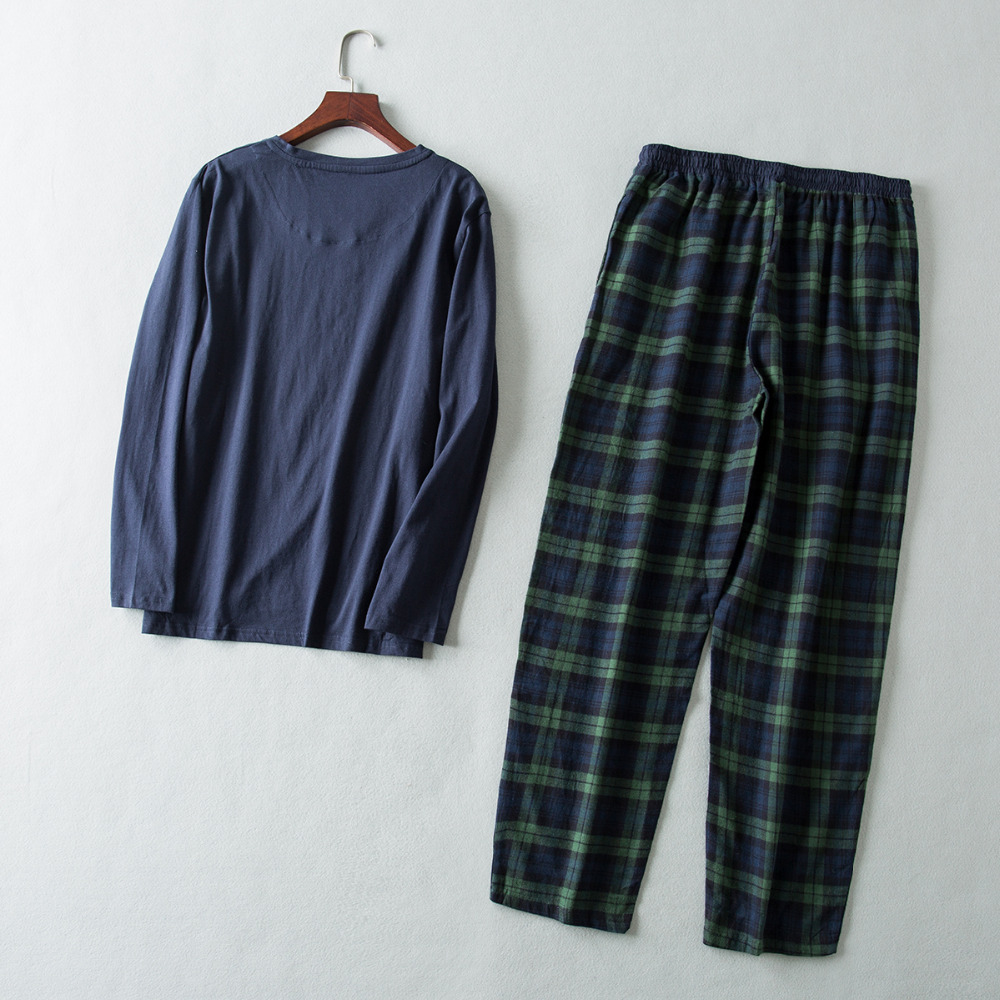 New Pajamas For Men Spring And Autumn Long Sleeve Cotton Sleepwear Mens Pajamas Set