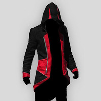 AC Costume Cosplay Conner Kenway Fashion Hoodie Coat Anime Overcoat XS 5XL Size