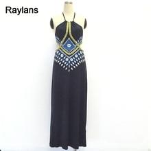 Raylans Maxi Women's Dress Halter Backless Bohemia Long Dress Casual Spring Summer Dress