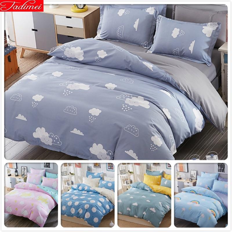 Power Source Search For Flights Pure Color Bedding Set Kids Child Bedlinen 1.5m 1.8m 2m 2.2m Bed Flat Sheet Queen Twin Double Single Size Duvet Cover Bedclothes