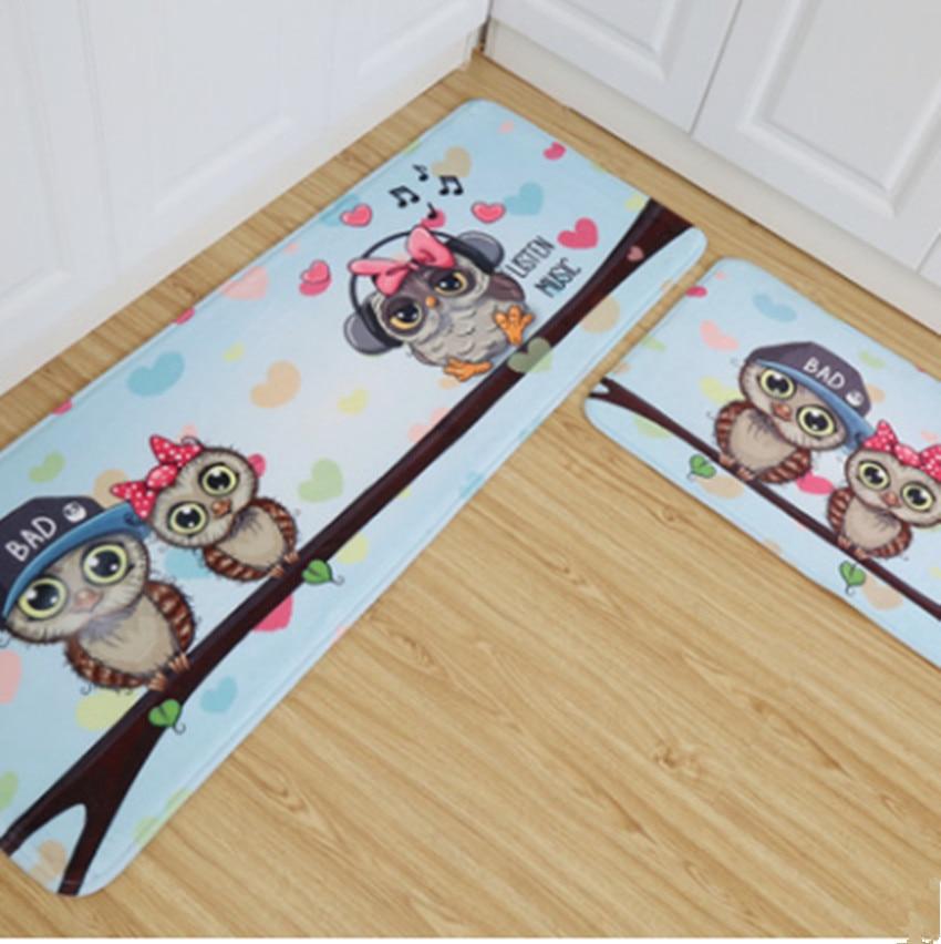 Owl Carpet 45 120cm Kitchen Mat Cartoon Home Door Antislip Rug Floor Rectangle Rugs Modern Decor In From Garden