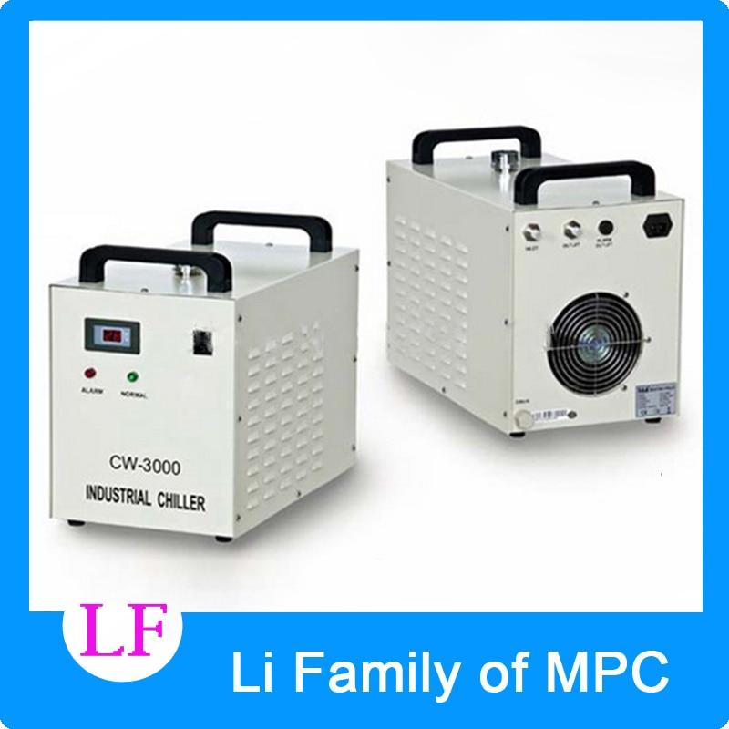 High quality Co2 laser chiller CW-3000AG 220V 50/60Hz for 80W CO2 glass laser tube