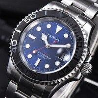 Parnis Mechanical Automatic Men Watch Diver Tritium Miyota 8215 Men's Watches Sapphire mekanik erkek kol saati reloj automatico