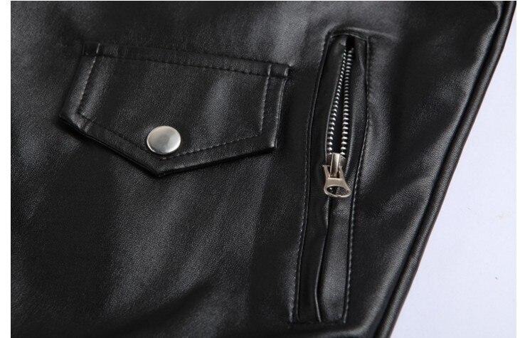 Motorrad PU Leder Jacke Männer Fashion Zipper Männer Faux leder Jacken /& Mäntel Slim Fit Winter Schwarz Weiß Plus Größe 4XL