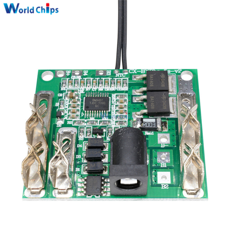 5S 18/21V 20A Li-Ion Lithium Battery Pack Battery Charging Protection Board Protection Circuit Board BMS Module