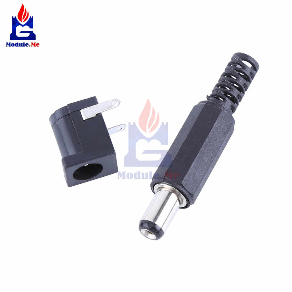 30 V 0.5A 1 par DC 2.1x5.5mm DC Power Jack Feminino Soquete Do Conector 5.5*2.1 milímetros conector do Adaptador de Plugue macho