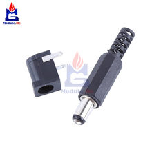 1 par CC 30V 0.5A 2,1mm x 5,5 CC toma de corriente conector hembra 5,5*2,1mm adaptador de conector de enchufe macho(China)