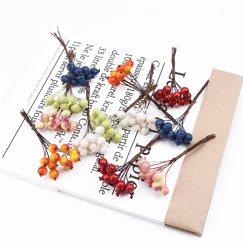 10pcs Artificial Fruits Foam Cherry Christmas Decorations For Home Wedding Bridal Accessories Clearance Diy Gifts Box Handmade