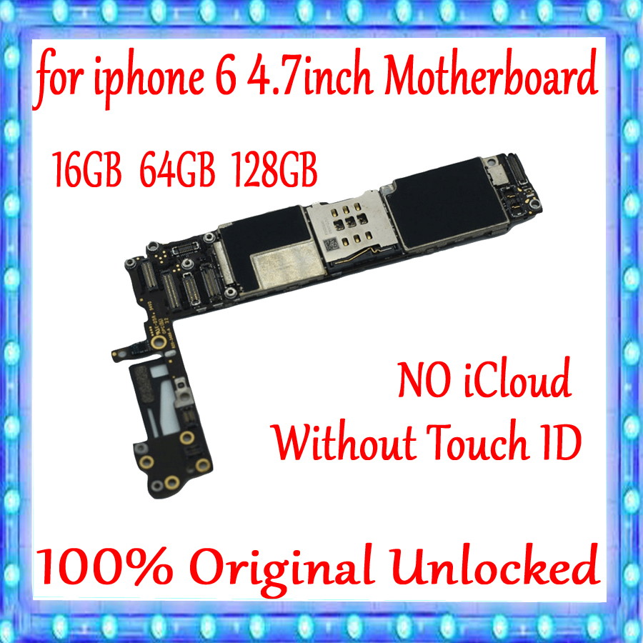 Original unlocked for iPhone 6 4.7inch Motherboard without Touch ID,with IOS System for iphone 6 Logic board 16gb  64gb 128gOriginal unlocked for iPhone 6 4.7inch Motherboard without Touch ID,with IOS System for iphone 6 Logic board 16gb  64gb 128g