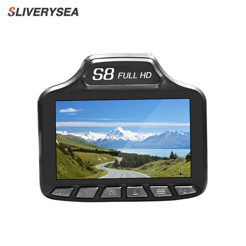 SLIVERYSEA Car Dvr Radar Detector 3 TFT Russian& English Version DVR Cam 140 Degree lens Tachograph Traffic Warning