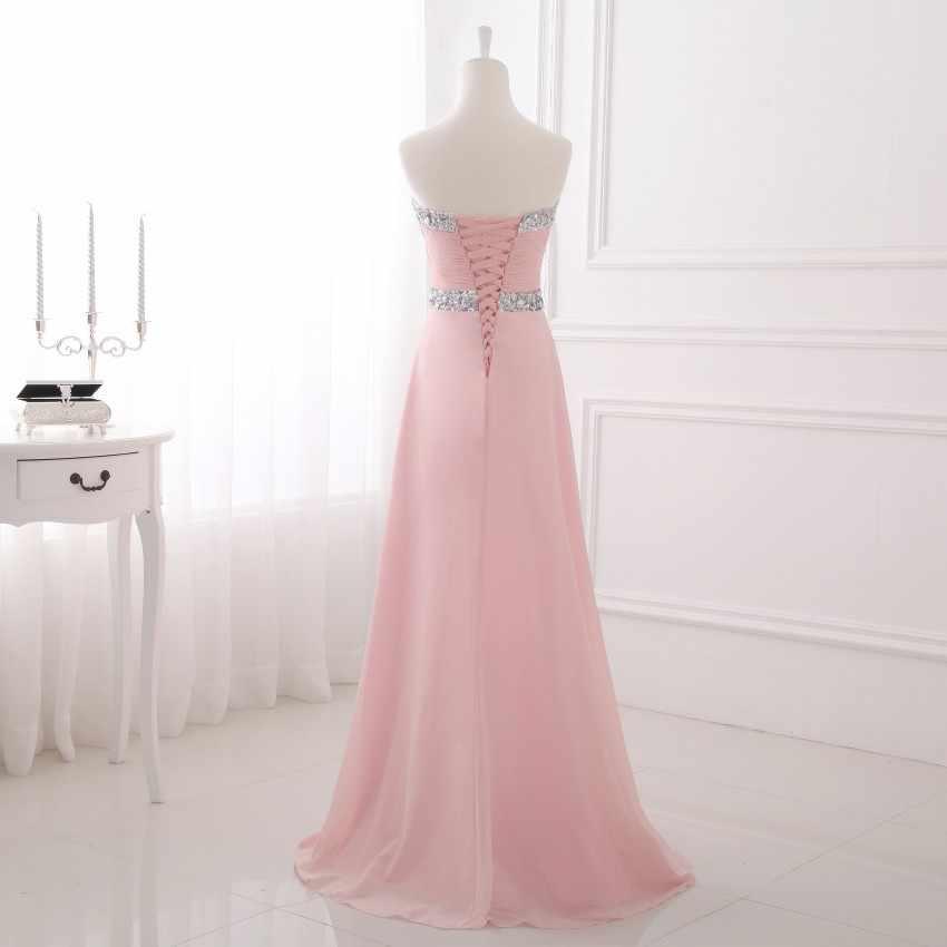 [التخليص بيع] الشيفون فستان سهرة طويل 2019 بسيط رسمي فستان طويل أنيق حبيب 48 ساعة الشحن