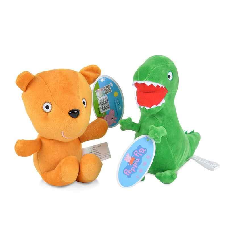 19 cm Marca Original Peppa Pig Kawaii Bicho de pelúcia Brinquedo de Pelúcia George Porco Dragão Boneca Urso de Brinquedo de Presente de Natal Para crianças Bebê