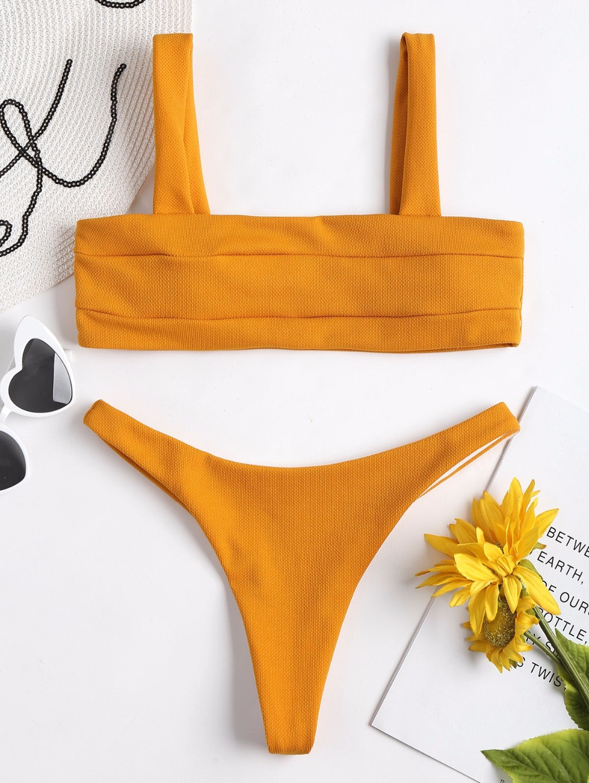 Textured Padded Bikini Set