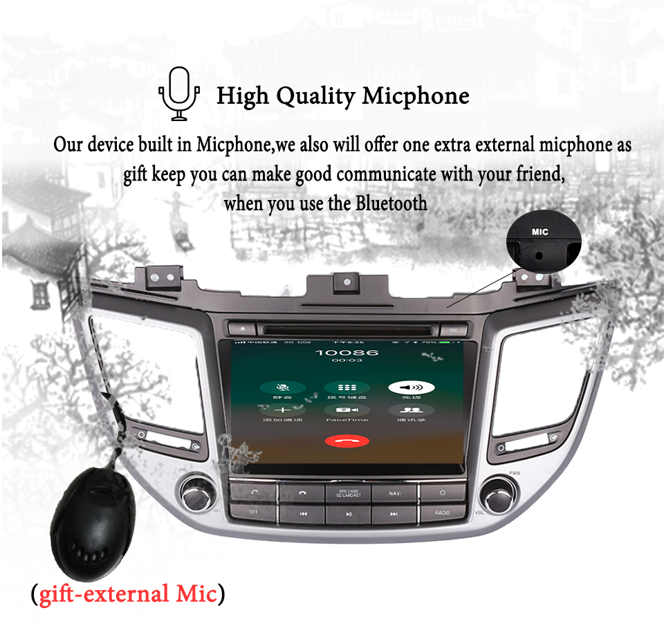 Clearance 4G+64G Octa core android 9.0 car dvd for Hyundai Tucson/IX35 2016 2017 2018 multimedia car radio gps navigation Tape Recorder 6