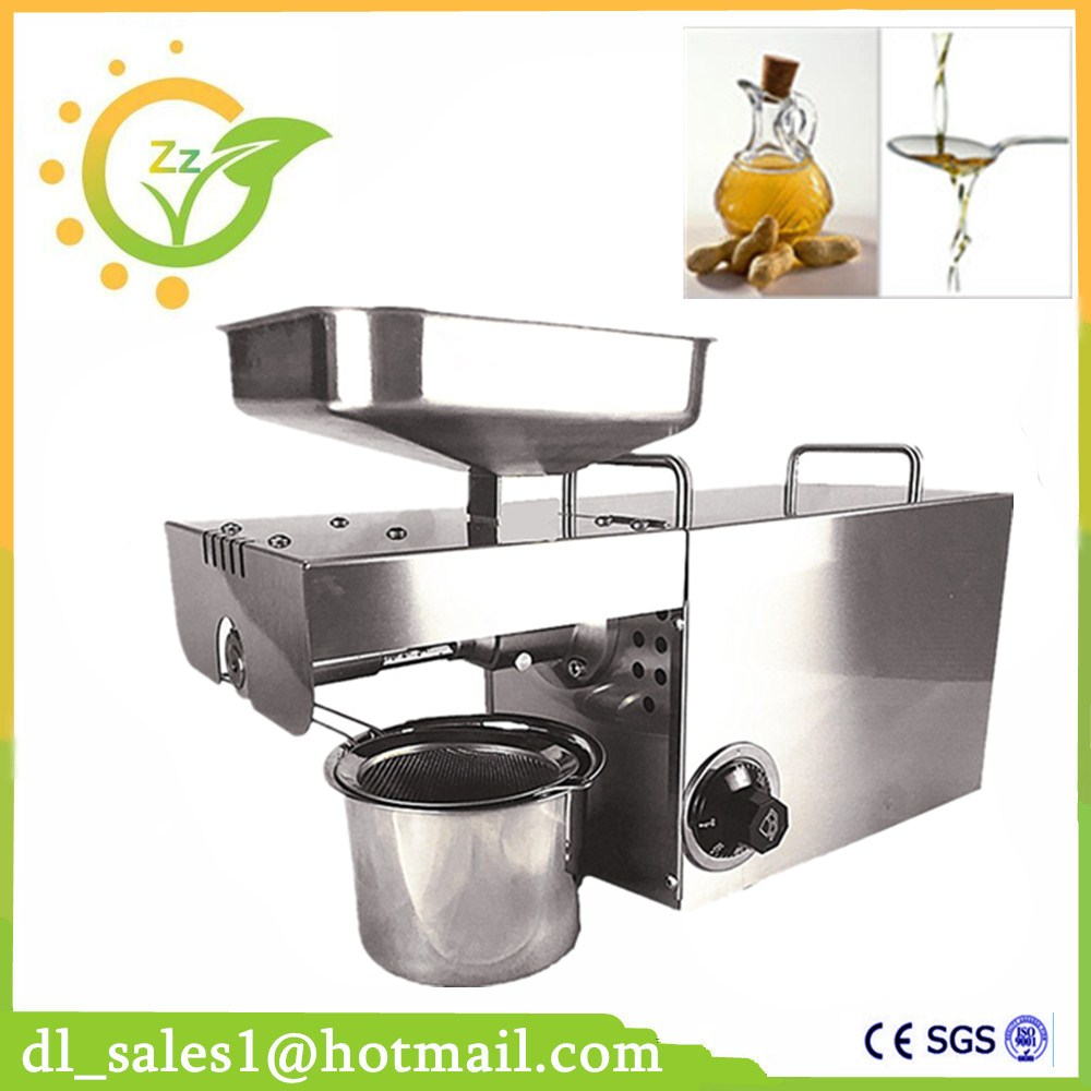 New arrival 110V/220V small electric hot and cold peanut sesame soybean oil press pressing machine price zyj 02 new oil press machine hot and clod pressing for peanut soybean sesame oil making machine high oil extraction rate