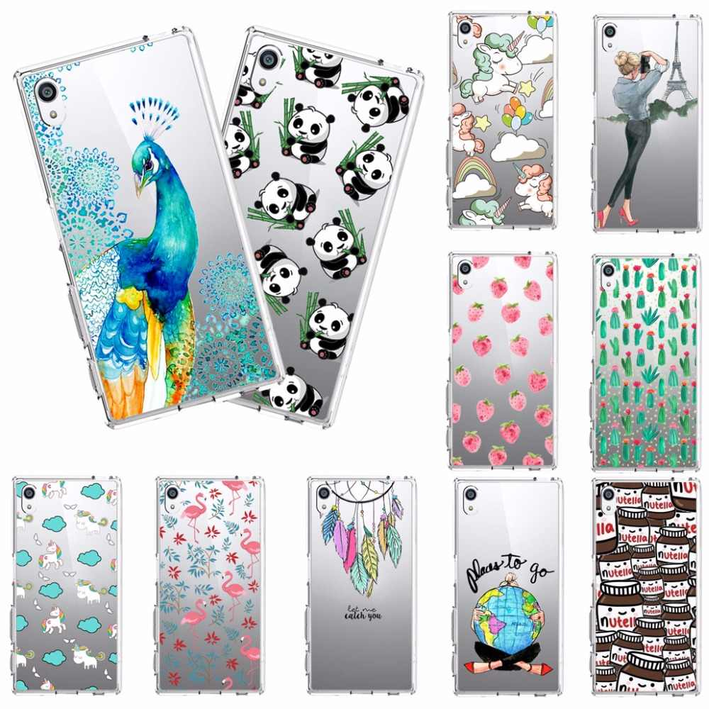 Soft tpu Cover Case For Sony Xperia Z1 Z3 Z5 Compact Mini Xperia M2 M4 Aqua XA L36h Z2 E3 E5 C4 SP Case Cover Coque TPU Silicone