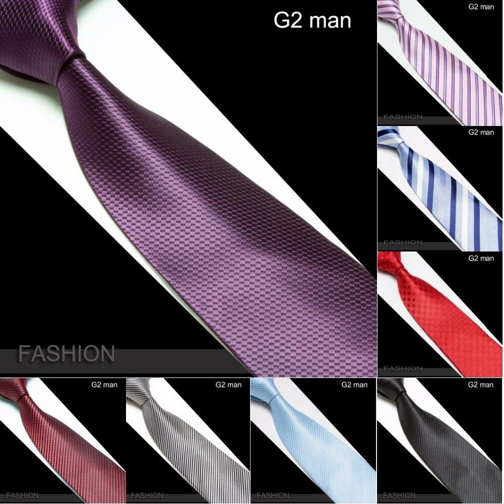 HOOYI Stripe Ties for Men Stripe Cravat Plaid Neck Tie Microfiber Mariage Necktie
