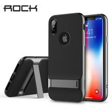 Rock Royce Series With Kick Stand Protection Case for iPhone X/Xs