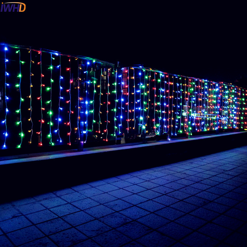 iwhd 10x05m garland led cristmas lights indoor outdoor 110220v christmas decorations led fairy lights christmas light - Led Christmas Decorations Indoor