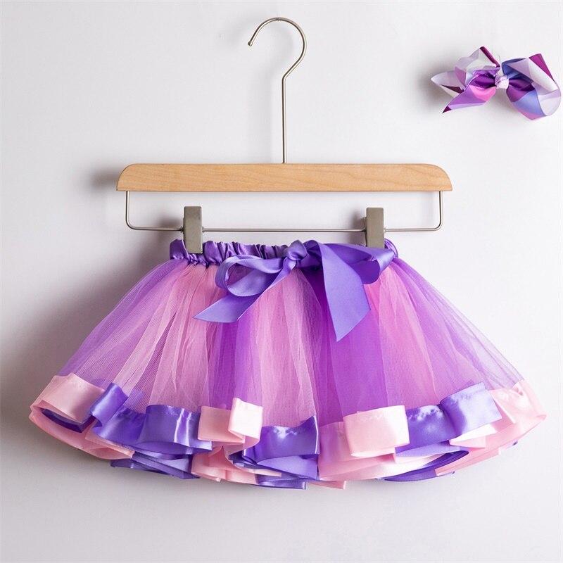 Юбка-пачка; юбки для маленьких девочек от 1 до 8 лет; юбка-американка принцессы; фатиновые юбки радужной расцветки для вечеринок и танцев; Одежда для девочек; одежда для детей - Цвет: 4