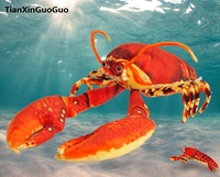 large 110cm lovely red lobster plush toy soft doll throw pillow birthday gift s0119