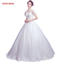 Long Formal Wedding Dresses A Line Tulle Lace Beading Elegant Bride Wedding Gowns For Women Vestido