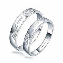 Женское и мужское кольцо из серебра 100% пробы