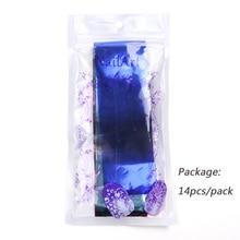 14pcs Charm Nail Foils Polish Stickers Metal Color Starry Paper Transfer Foil Wraps Adhesive Decals Nail Art Decorations BE996