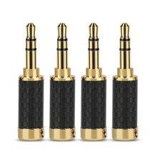 3,5 MM Audio Jack 3-Pole Stereo Adapter 3,5 MM Stecker HiFi DIY Reparatur Kopfhörer Stecker Stange Carbon Faser stecker