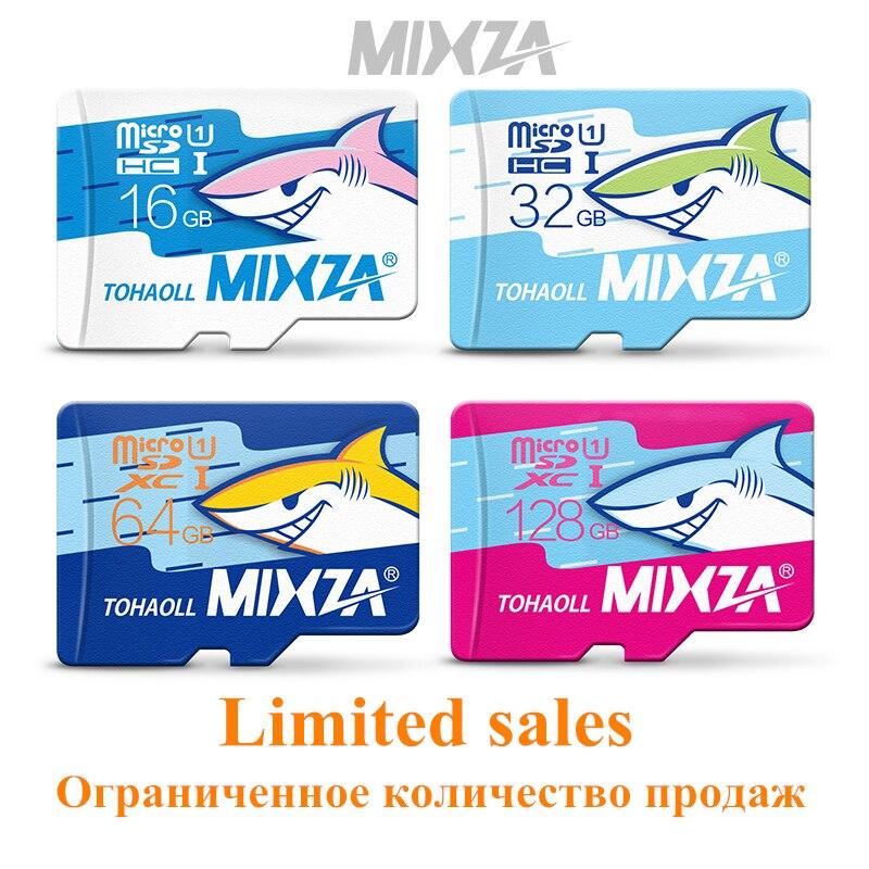 Edição Tubarão MIXZA UHS-1 cartão de memória 16 GB 32 GB 64 GB 128 GB cartão micro sd class10 cartão de memória flash cartão de memória microsd para smartphone