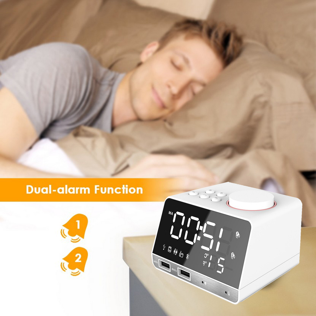 Bluetooth Radio Alarm Clock Mirror
