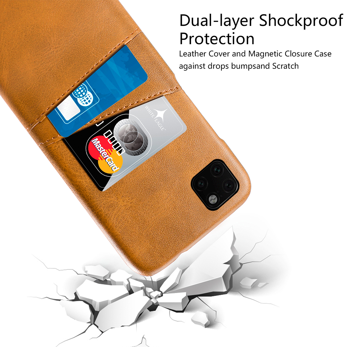Torubia Leather Card Holder Case for iPhone 11/11 Pro/11 Pro Max 3