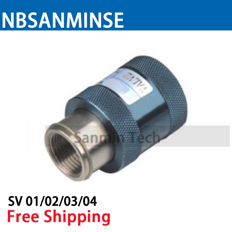 SV 1/8 1/4 3/8 1/2 Hand Sliding Fitting Slide Switches Hand Slide Valve Pneumatic Components Female Male Standard Type Sanmin stika sv 8