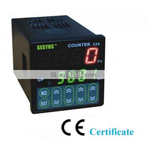 New Digital Counter 4 Digital Preset Scale Counter Tact switch C2S-R-24&Free shipping 50pcs lot 6x6x7mm 4pin g92 tactile tact push button micro switch direct self reset dip top copper free shipping russia